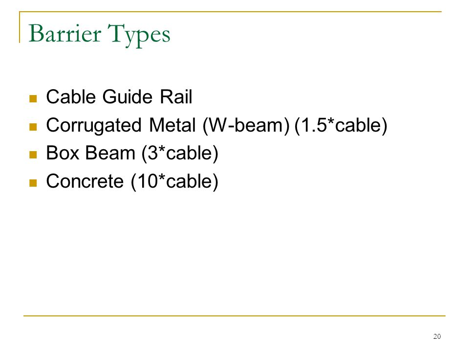 Barrier Types Cable Guide Rail Corrugated Metal (W-beam) (1.5*cable)