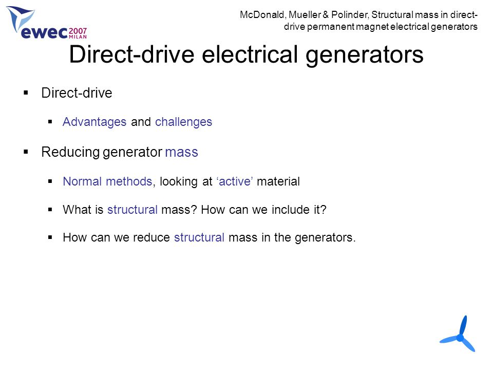 Direct-drive electrical generators