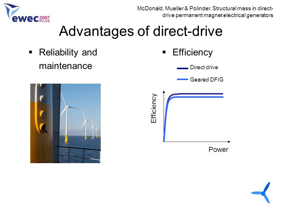 Advantages of direct-drive
