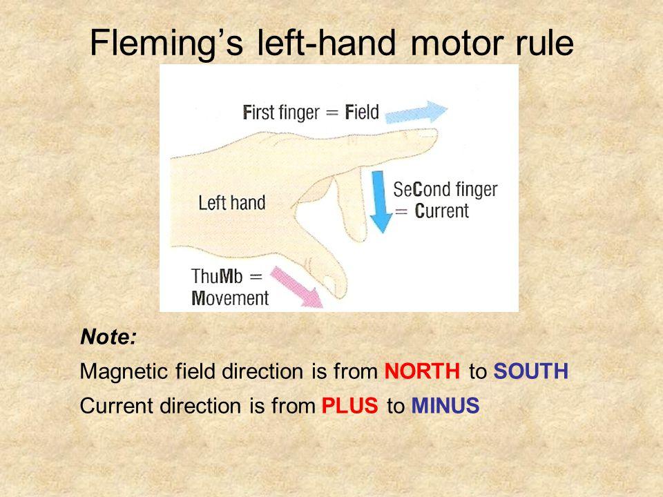 Fleming's left-hand motor rule