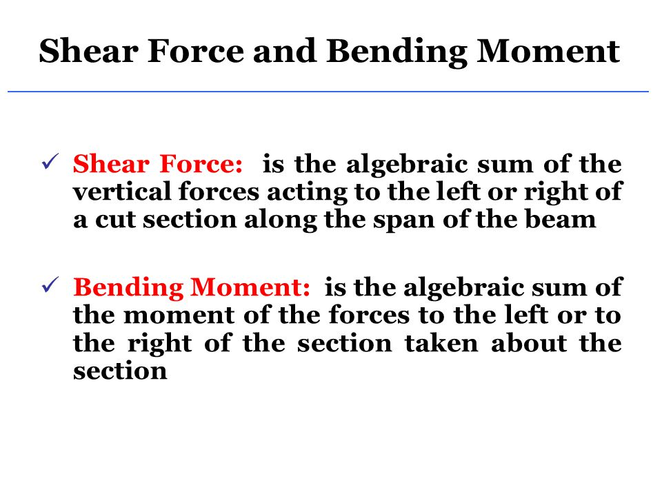 shear force Ce 433, fall 2006 design of beams for shear 1 / 7 another principal failure mode of reinforced concrete components, after flexure, is shear flexure cracks form where the flexural tension stresses are greatest, for example at the.