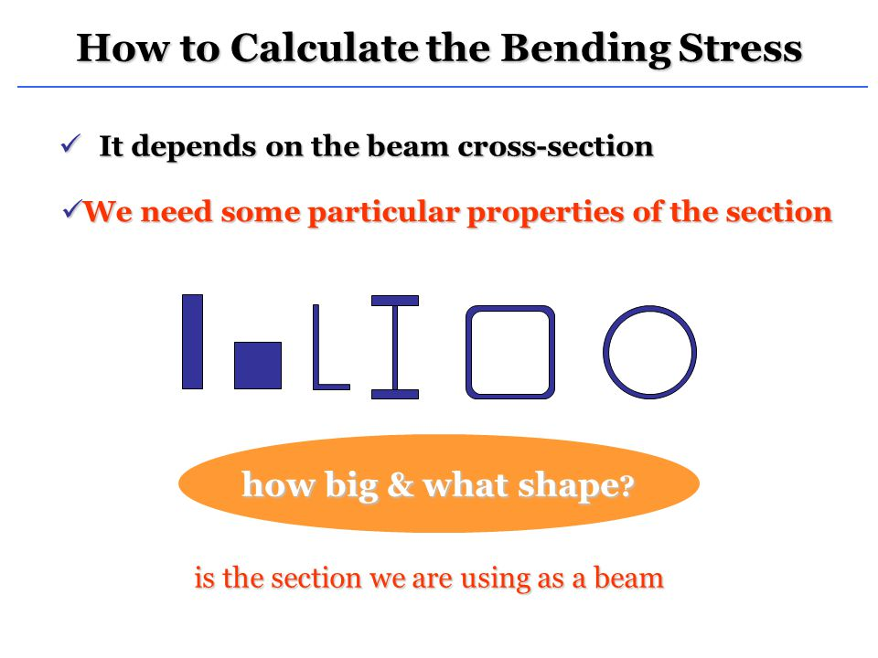 How to Calculate the Bending Stress