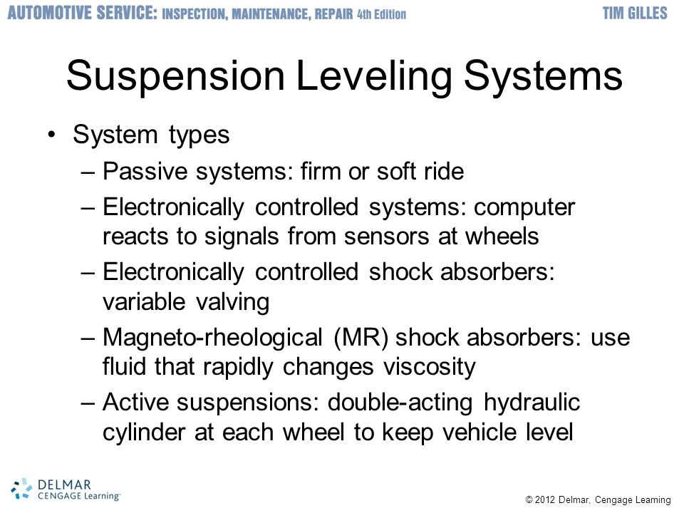 Suspension Leveling Systems