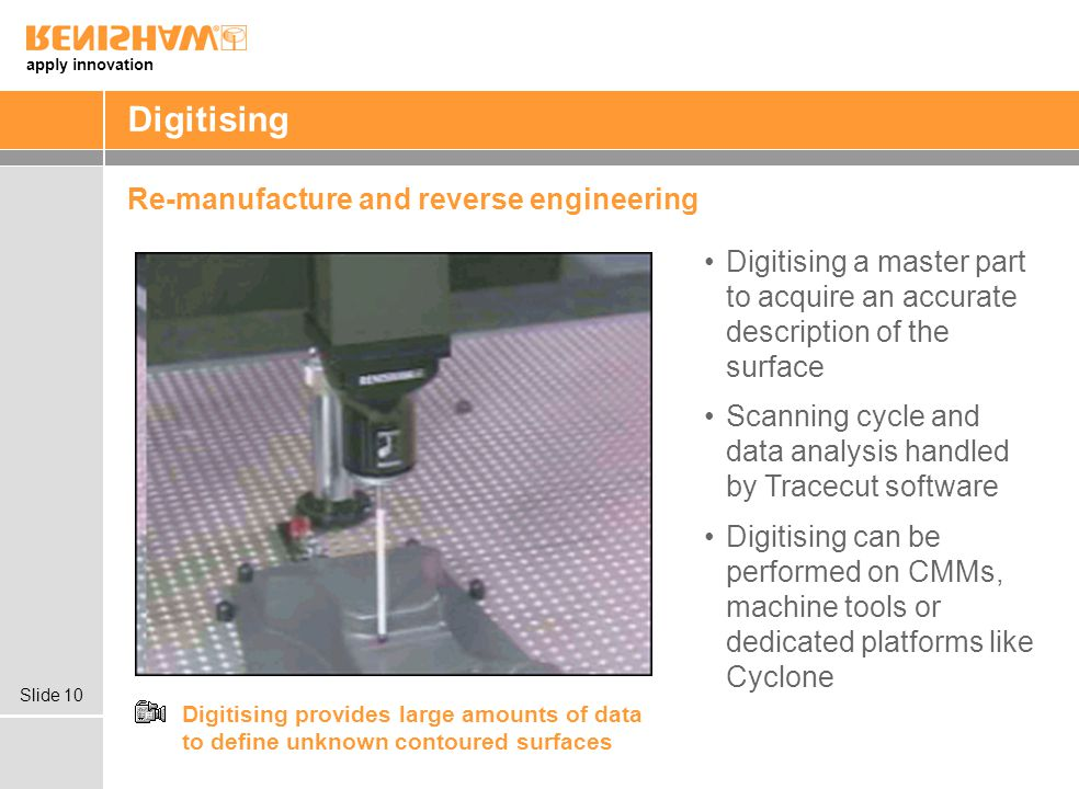Digitising Re-manufacture and reverse engineering