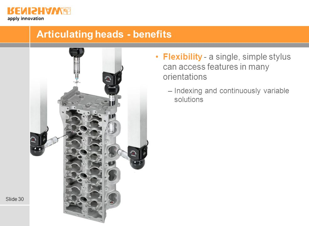 Articulating heads - benefits