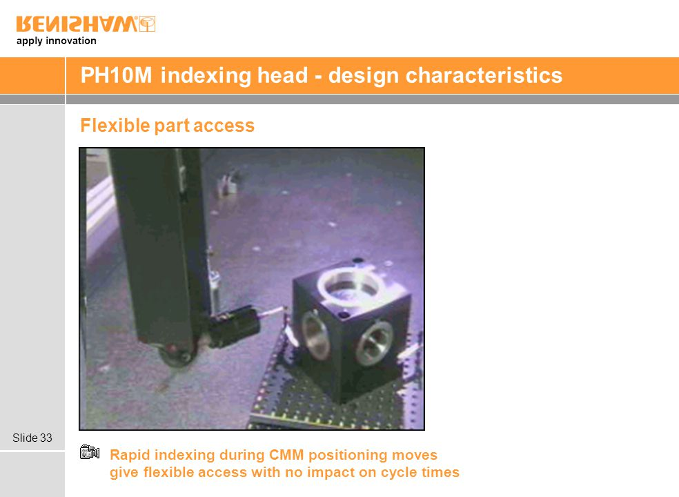PH10M indexing head - design characteristics