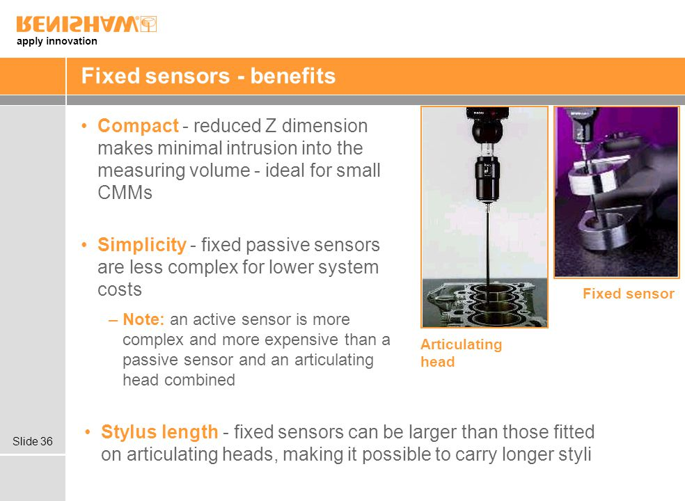 Fixed sensors - benefits