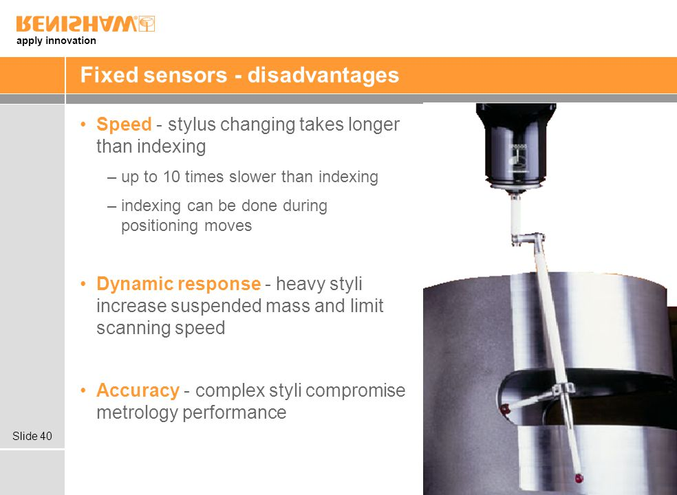 Fixed sensors - disadvantages