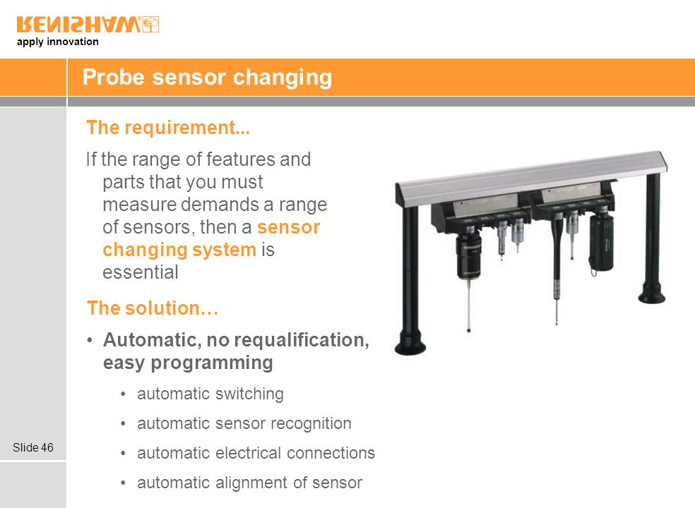 Probe sensor changing The requirement...
