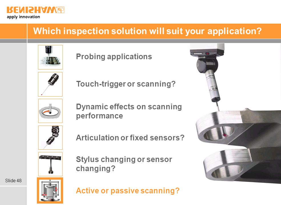 Which inspection solution will suit your application