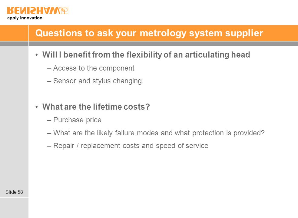 Questions to ask your metrology system supplier
