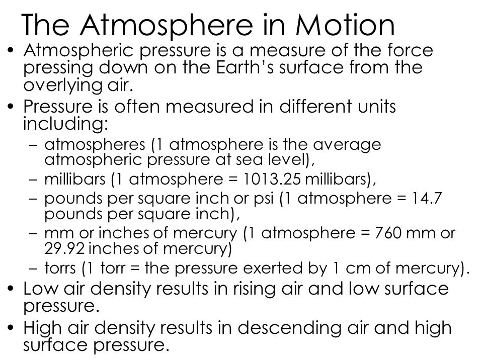 The Atmosphere in Motion