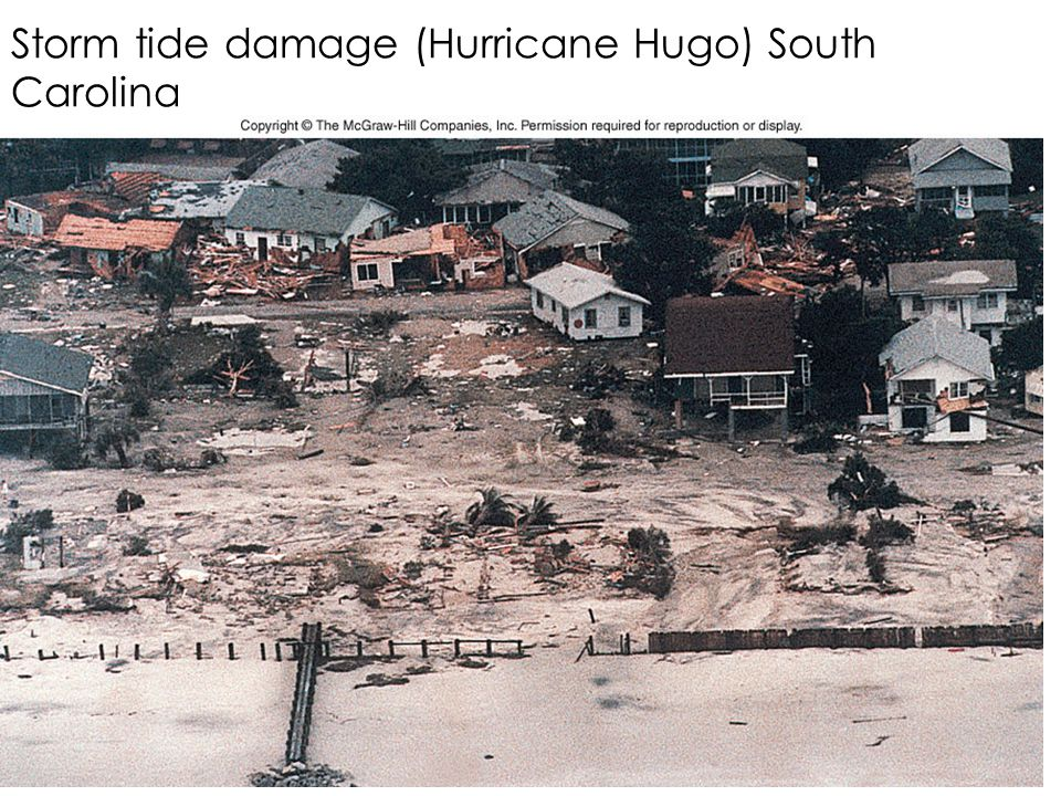 Storm tide damage (Hurricane Hugo) South Carolina