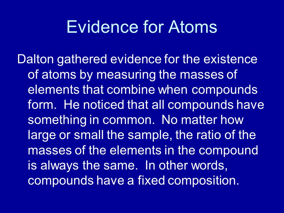 Evidence for Atoms