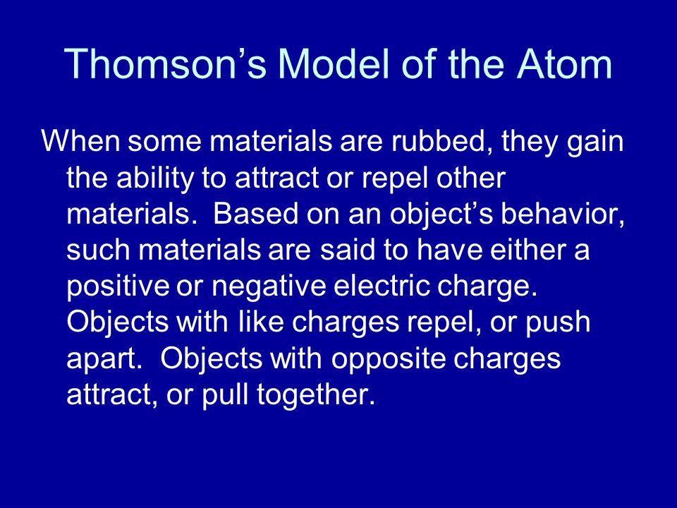 Thomson's Model of the Atom