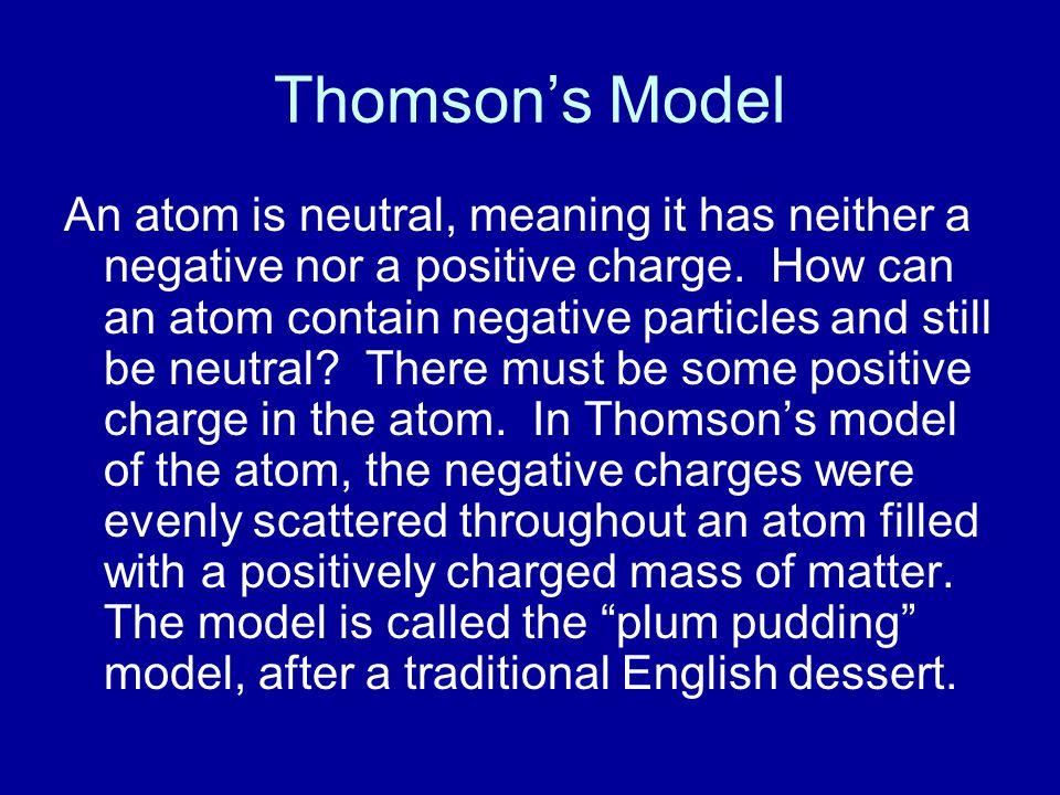 Thomson's Model
