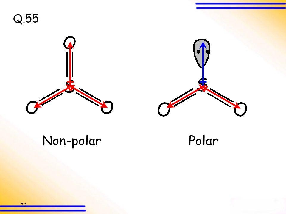 Q.55 Non-polar Polar