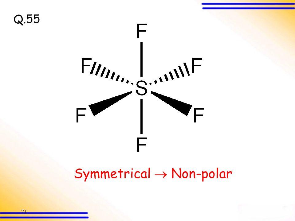 Symmetrical  Non-polar