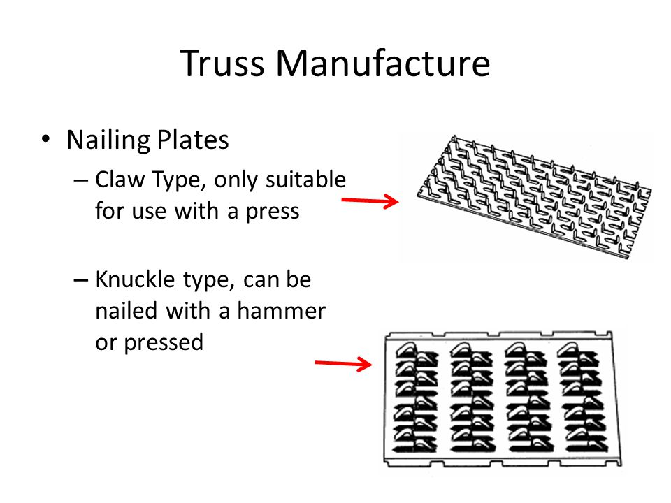 Truss Manufacture Nailing Plates