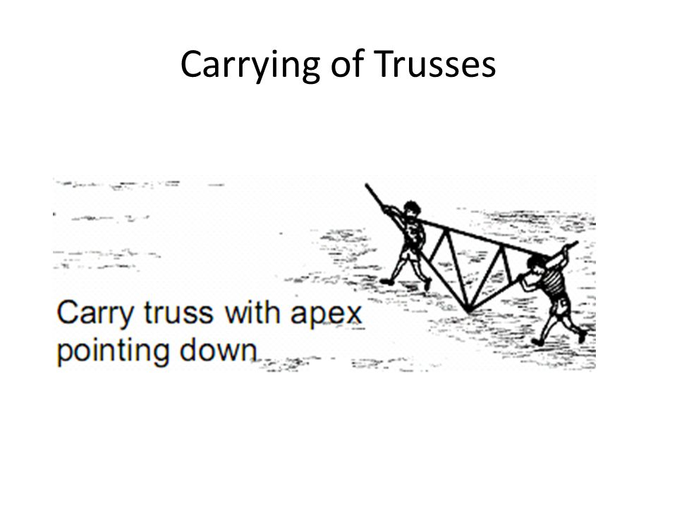 Carrying of Trusses