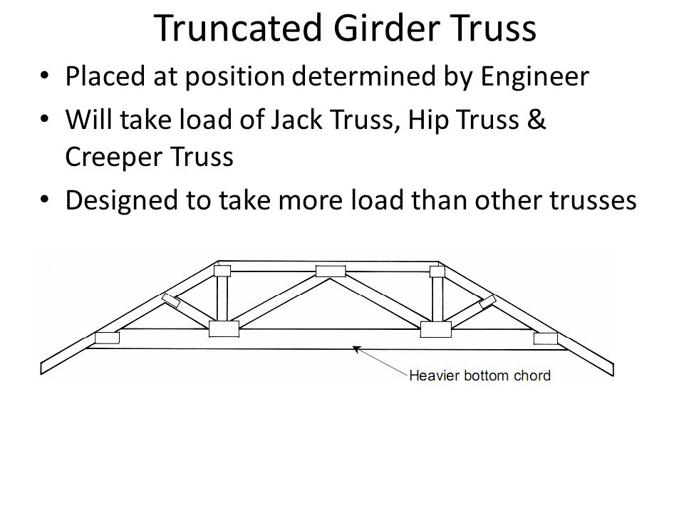 Truncated Girder Truss