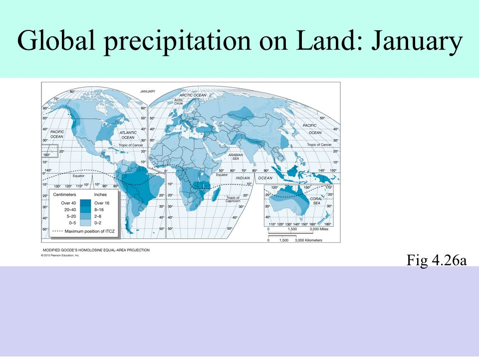 Global precipitation on Land: January