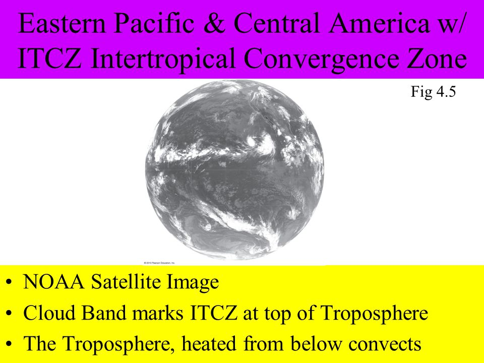 Eastern Pacific & Central America w/ ITCZ Intertropical Convergence Zone