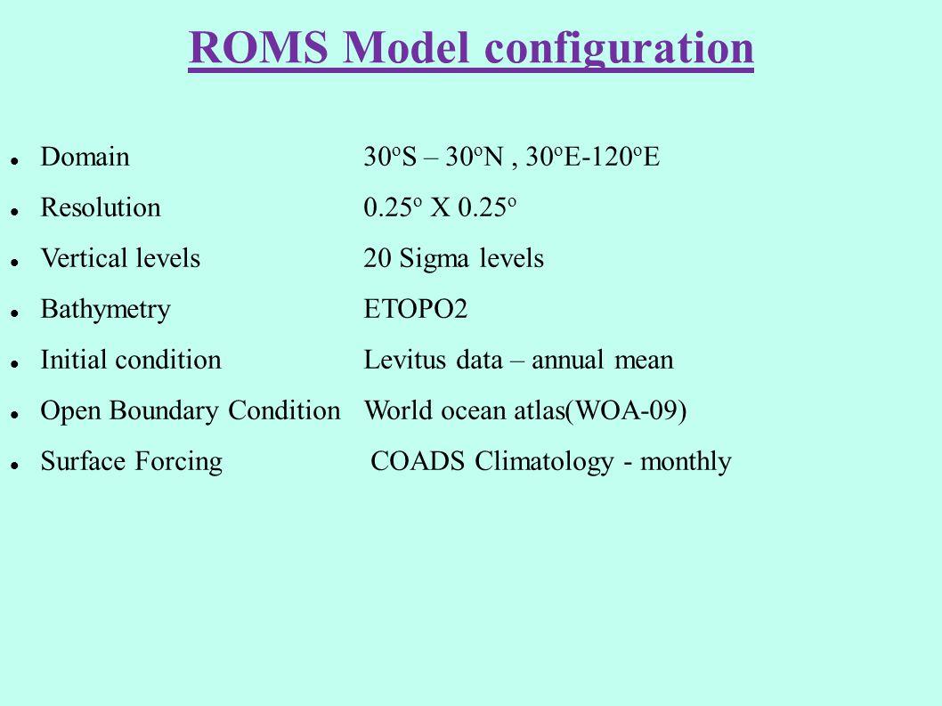 ROMS Model configuration