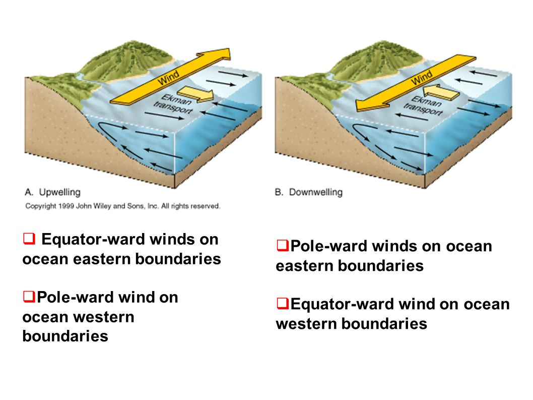 Equator-ward winds on ocean eastern boundaries