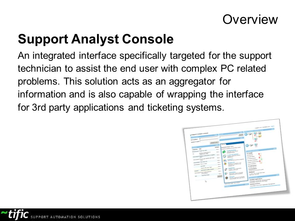 Support Analyst Console