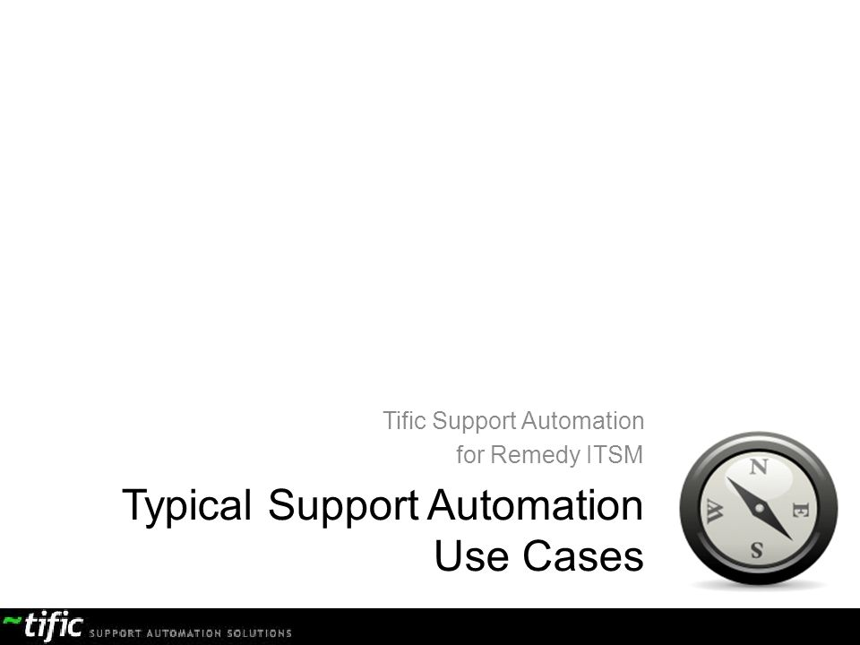 Typical Support Automation Use Cases