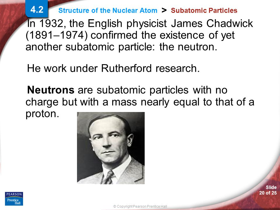 He work under Rutherford research.