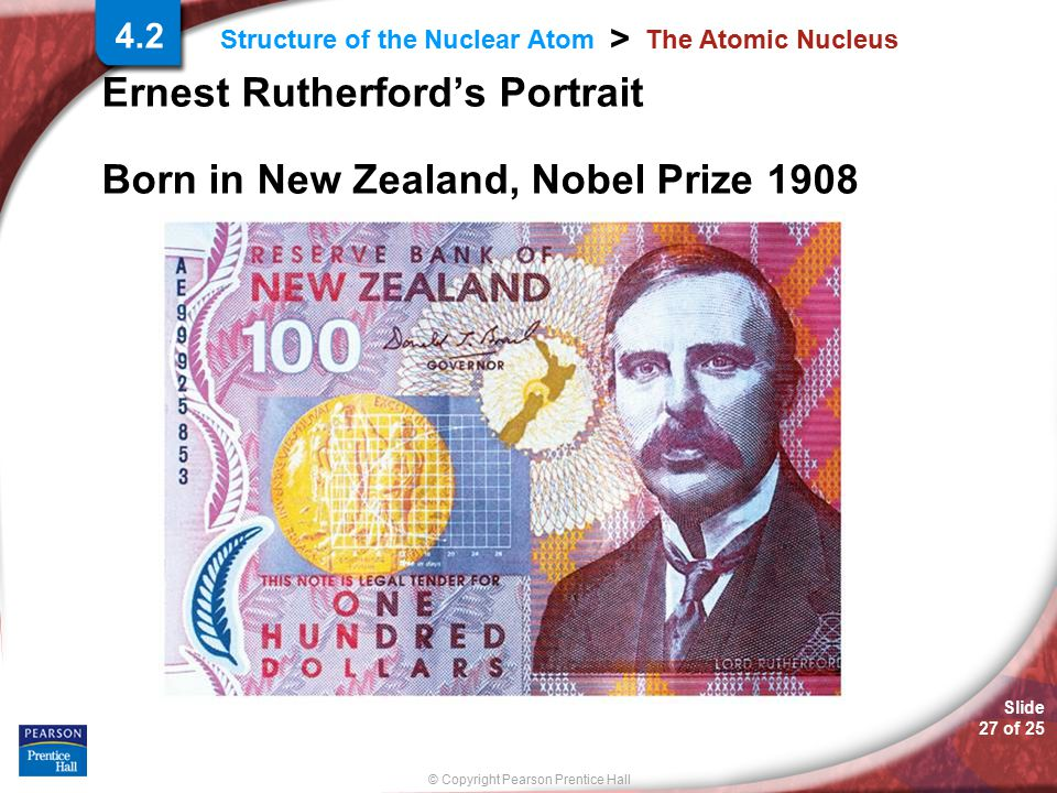 Ernest Rutherford's Portrait Born in New Zealand, Nobel Prize 1908