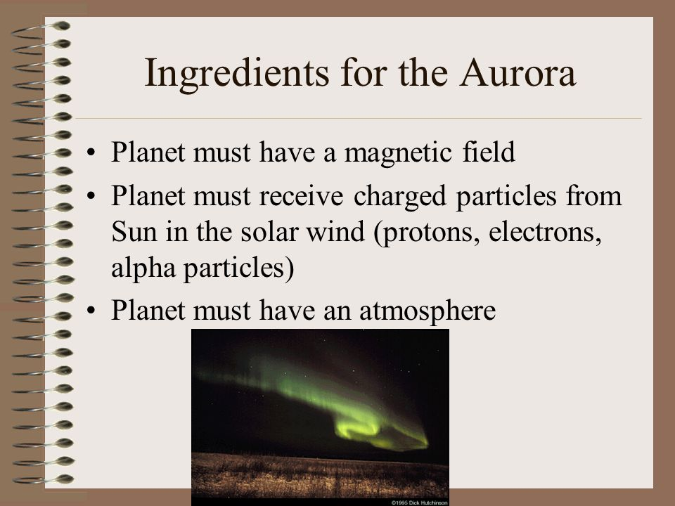 Ingredients for the Aurora