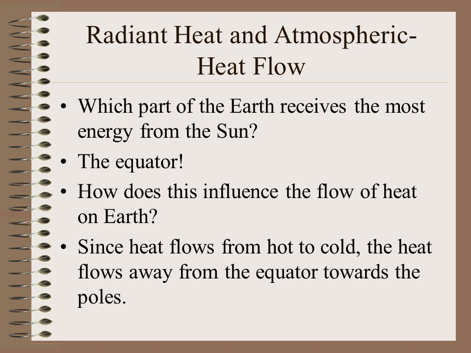 Radiant Heat and Atmospheric- Heat Flow