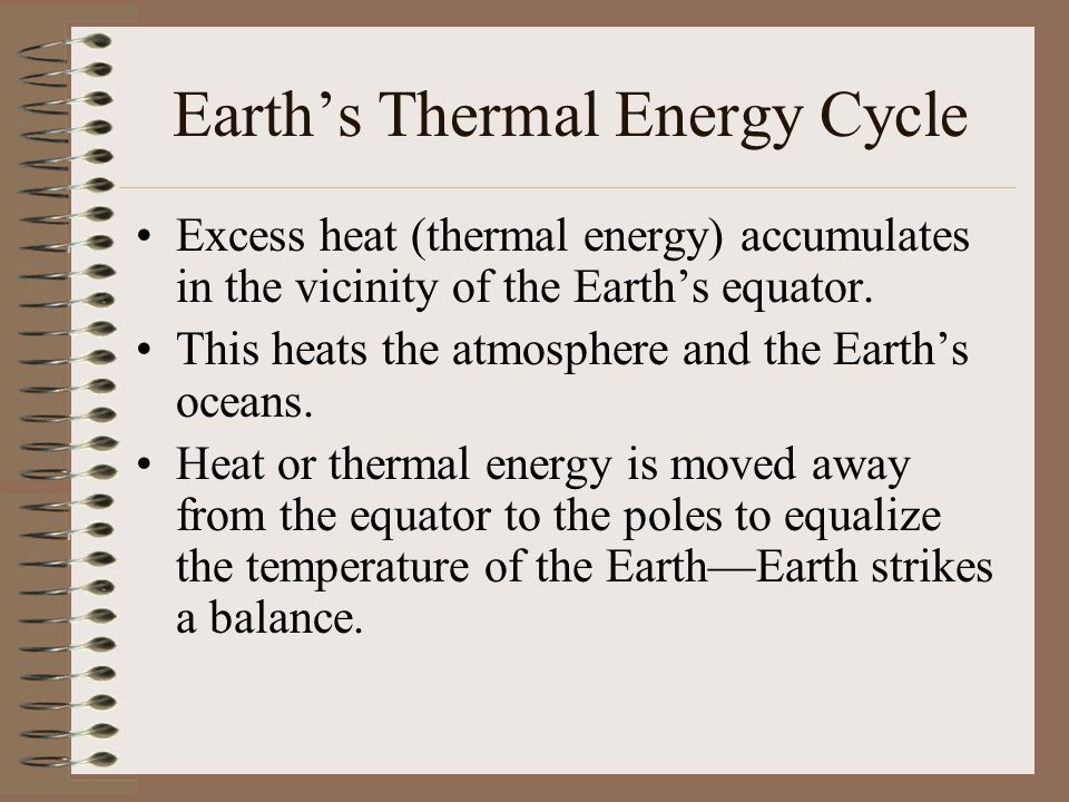 Earth's Thermal Energy Cycle