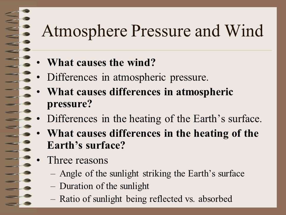 Atmosphere Pressure and Wind