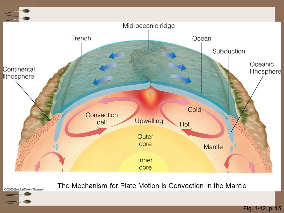 The Mechanism for Plate Motion is Convection in the Mantle