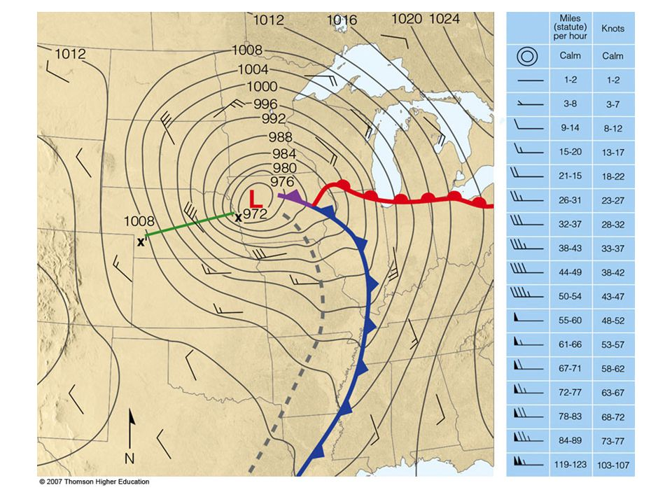 Surface weather map for 6 A. M. (CST), Tuesday, November 10, 1998