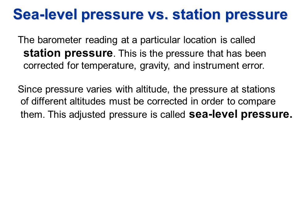 Sea-level pressure vs. station pressure