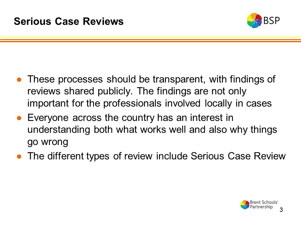 Serious Case Reviews