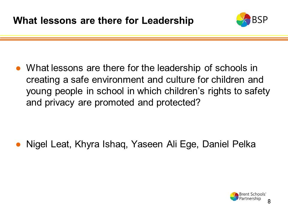 What lessons are there for Leadership
