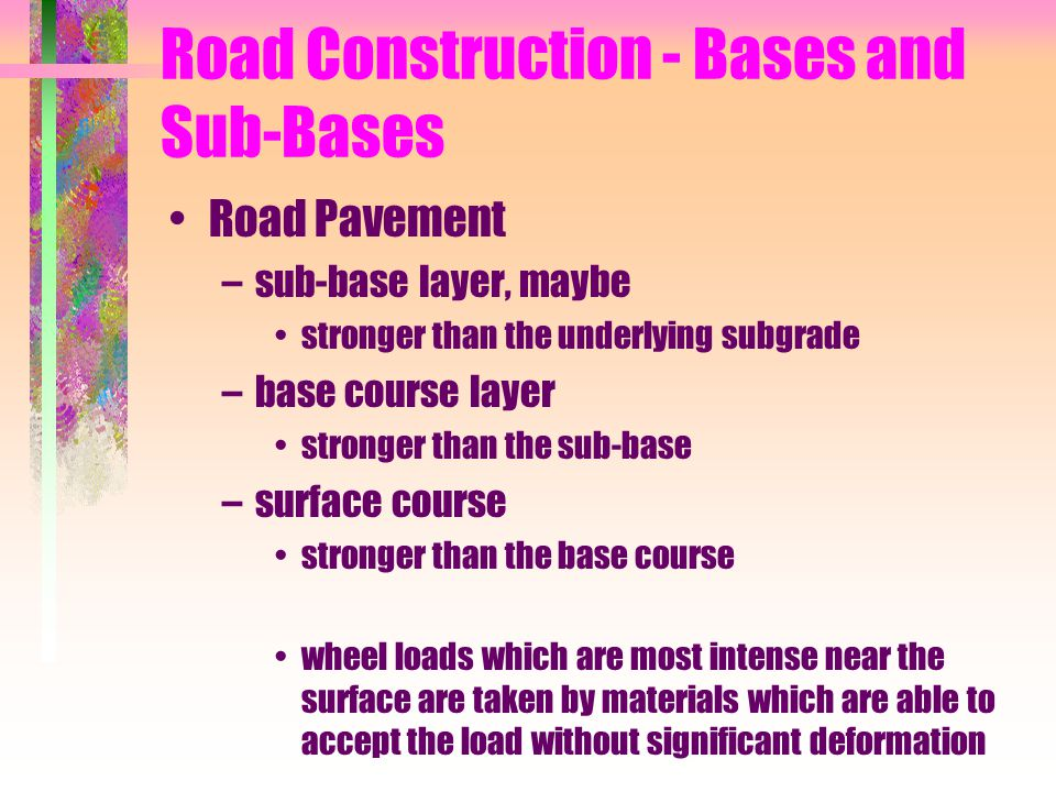 Road Construction - Bases and Sub-Bases
