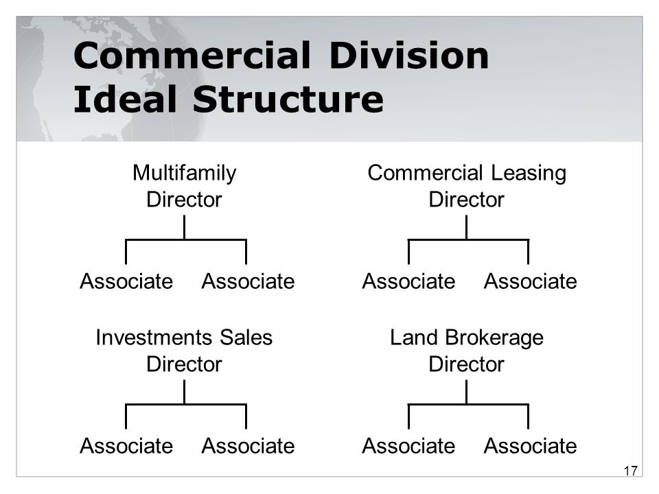 Commercial Division Ideal Structure