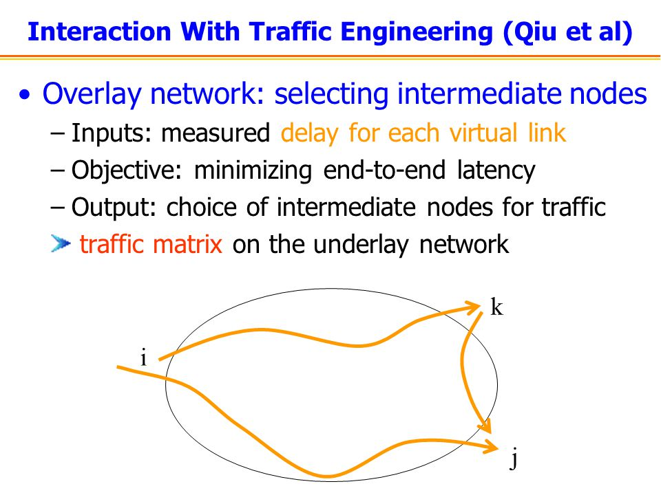 Interaction With Traffic Engineering (Qiu et al)
