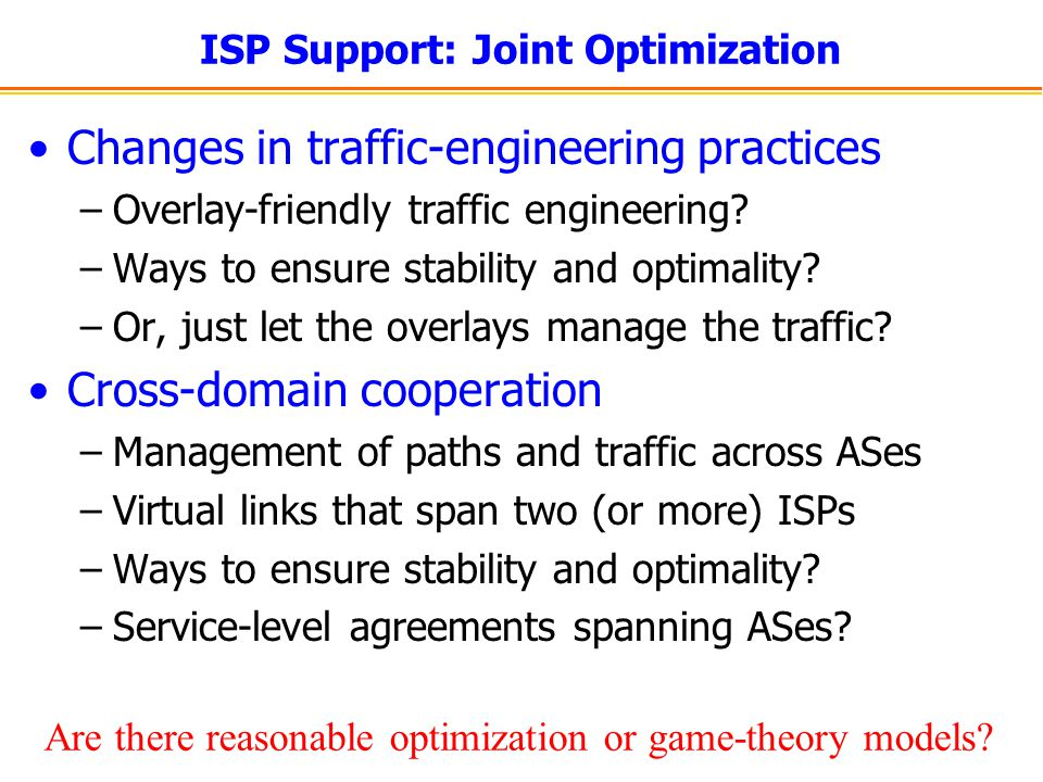 ISP Support: Joint Optimization