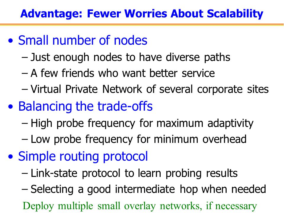 Advantage: Fewer Worries About Scalability