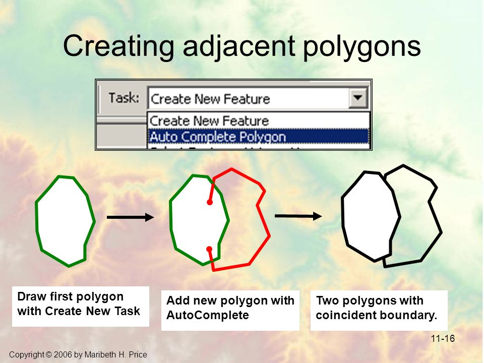 Creating adjacent polygons