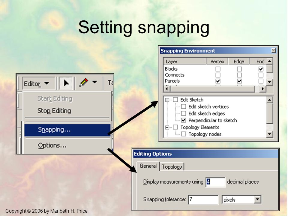 Setting snapping Mastering ArcGIS Chapter 11
