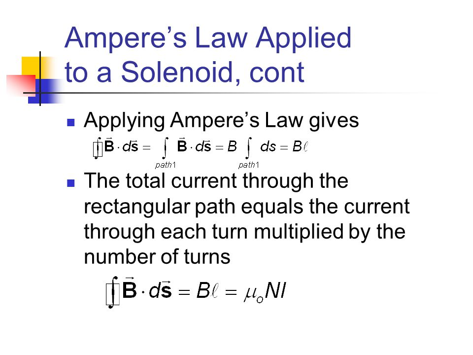 Ampere's Law Applied to a Solenoid, cont